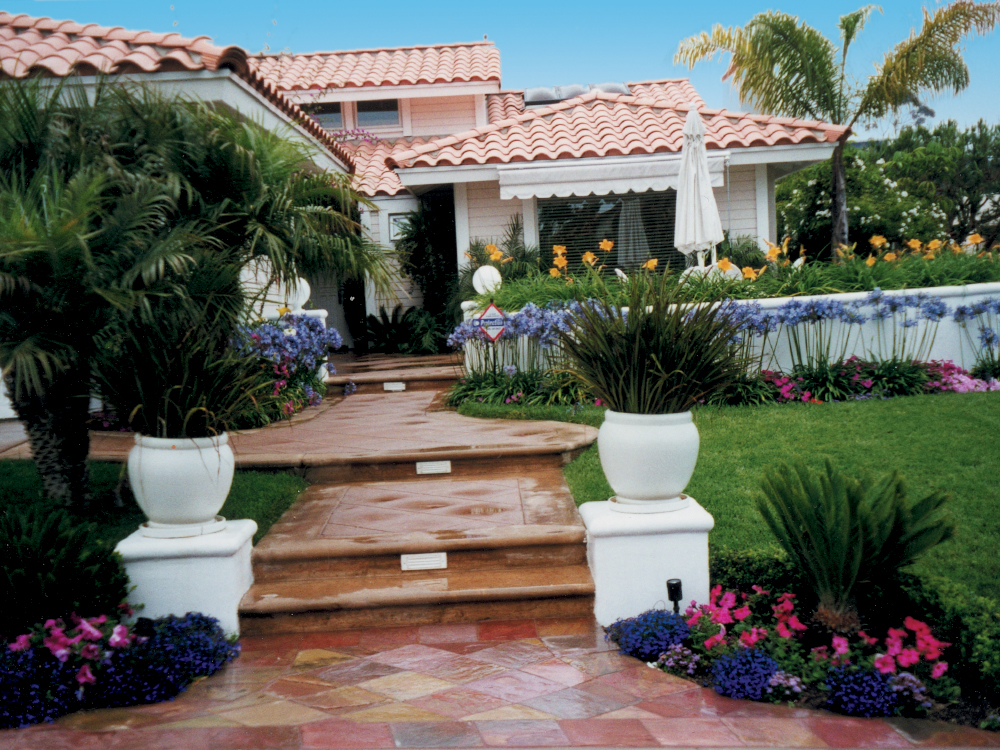 Monarch beach home entrance.