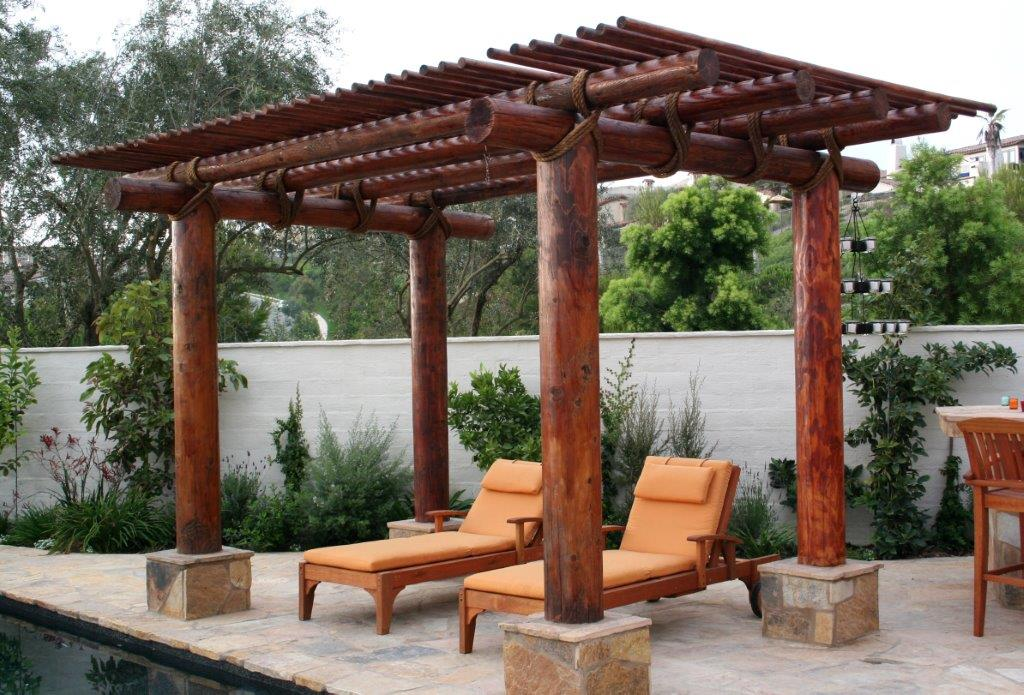 Outdoor shaded lounge.